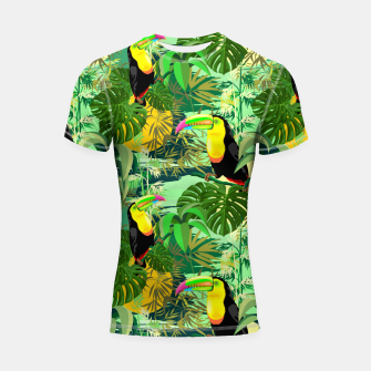 Miniature de image de Toucan in Green Amazonia Rainforest  Shortsleeve rashguard, Live Heroes