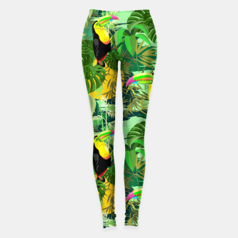 Miniaturka Toucan in Green Amazonia Rainforest  Leggings, Live Heroes