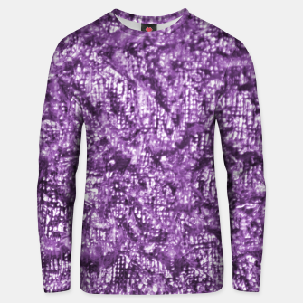 Miniatur Violet Glitter Abstract Print Unisex sweater, Live Heroes