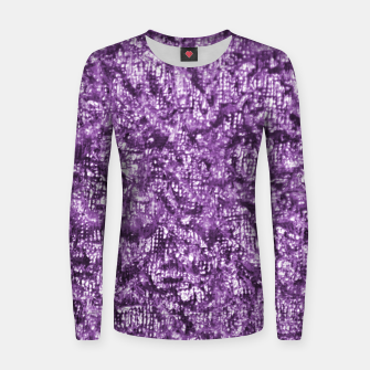 Miniatur Violet Glitter Abstract Print Women sweater, Live Heroes
