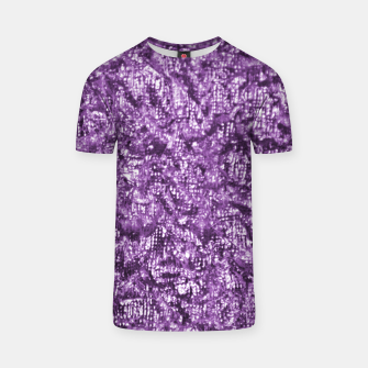 Miniatur Violet Glitter Abstract Print T-shirt, Live Heroes