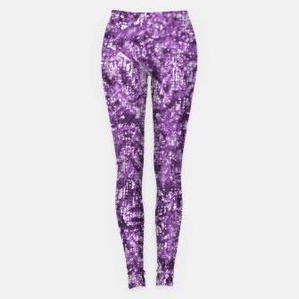 Thumbnail image of Violet Glitter Abstract Print Leggings, Live Heroes