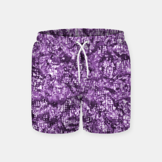 Thumbnail image of Violet Glitter Abstract Print Swim Shorts, Live Heroes