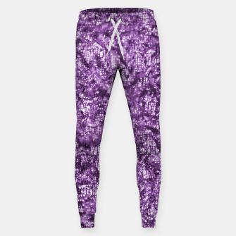 Thumbnail image of Violet Glitter Abstract Print Sweatpants, Live Heroes