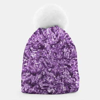 Thumbnail image of Violet Glitter Abstract Print Beanie, Live Heroes