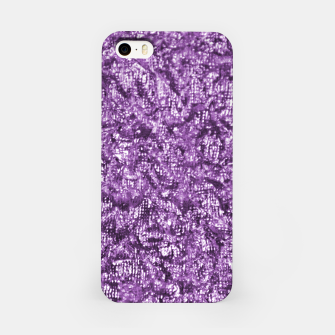 Miniatur Violet Glitter Abstract Print iPhone Case, Live Heroes
