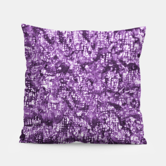 Miniatur Violet Glitter Abstract Print Pillow, Live Heroes