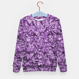 Miniatur Violet Glitter Abstract Print Kid's sweater, Live Heroes