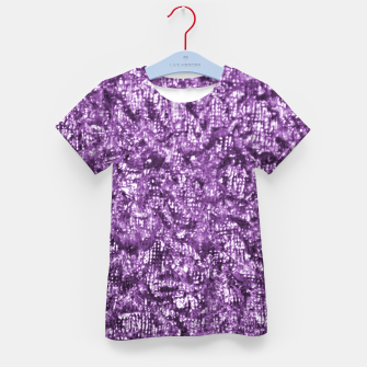 Thumbnail image of Violet Glitter Abstract Print Kid's t-shirt, Live Heroes