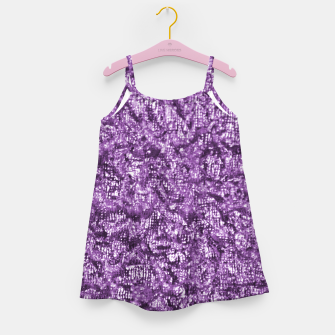 Miniatur Violet Glitter Abstract Print Girl's dress, Live Heroes