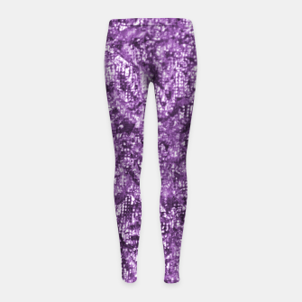 Imagen en miniatura de Violet Glitter Abstract Print Girl's leggings, Live Heroes