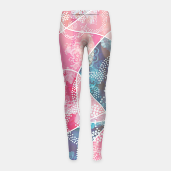 Thumbnail image of Floral geometric Girl's leggings, Live Heroes
