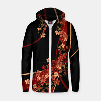 Miniature de image de Japanese tradirional emblem design Flower and Butterfly Zip up hoodie, Live Heroes