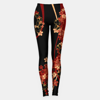 Thumbnail image of Japanese tradirional emblem design Flower and Butterfly Leggings, Live Heroes