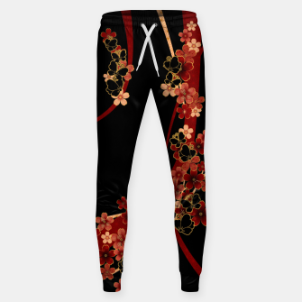 Miniature de image de Japanese tradirional emblem design Flower and Butterfly Sweatpants, Live Heroes