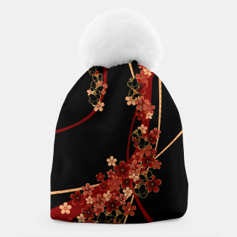 Thumbnail image of Japanese tradirional emblem design Flower and Butterfly Beanie, Live Heroes