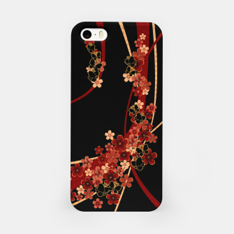 Miniature de image de Japanese tradirional emblem design Flower and Butterfly iPhone Case, Live Heroes