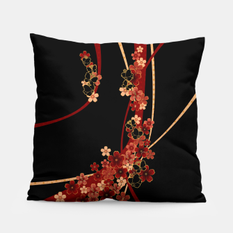Miniature de image de Japanese tradirional emblem design Flower and Butterfly Pillow, Live Heroes
