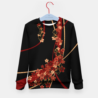 Miniature de image de Japanese tradirional emblem design Flower and Butterfly Kid's sweater, Live Heroes