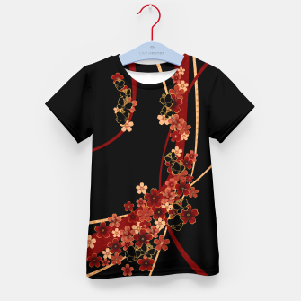 Miniature de image de Japanese tradirional emblem design Flower and Butterfly Kid's t-shirt, Live Heroes