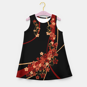 Miniature de image de Japanese tradirional emblem design Flower and Butterfly Girl's summer dress, Live Heroes