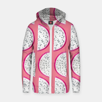 Thumbnail image of Dragon Fruit Summer Vibes Pattern #2 #fruity #decor #art  Reißverschluss kapuzenpullover, Live Heroes