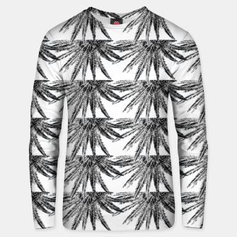 Abstract Palm Leaves in black and white Unisex sweatshirt thumbnail image