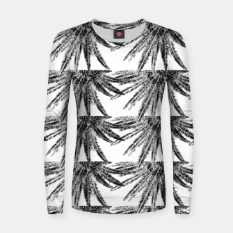 Abstract Palm Leaves in black and white Frauen sweatshirt thumbnail image