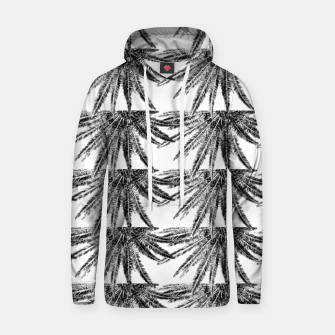 Abstract Palm Leaves in black and white Kapuzenpullover thumbnail image