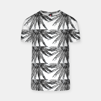 Miniaturka Abstract Palm Leaves in black and white T-Shirt, Live Heroes