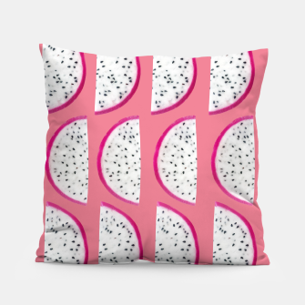 Thumbnail image of Dragon Fruit Summer Vibes Pattern #2 #fruity #decor #art  Kissen, Live Heroes