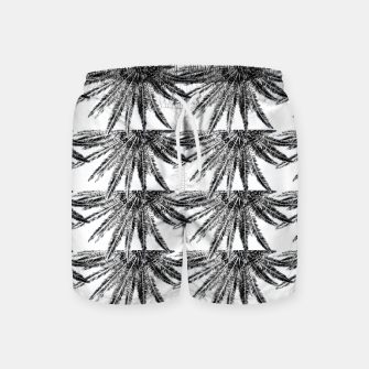 Abstract Palm Leaves in black and white Badeshorts thumbnail image