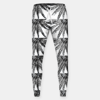 Abstract Palm Leaves in black and white Hosen thumbnail image