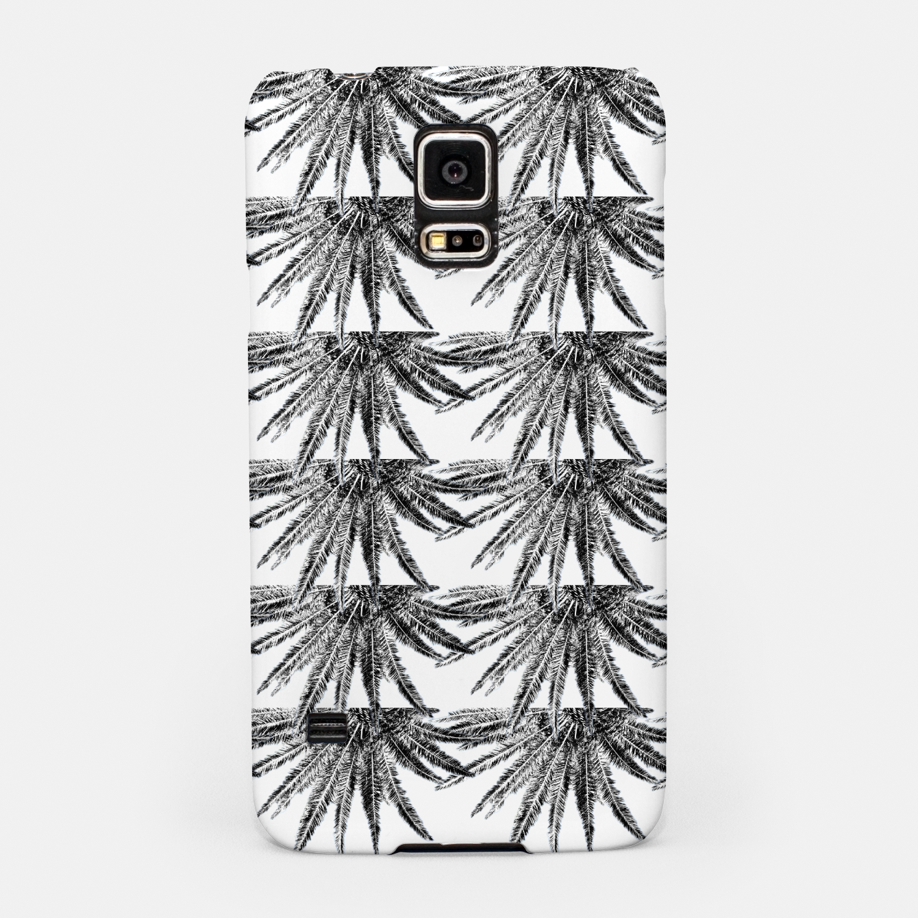 Image of Abstract Palm Leaves in black and white Handyhülle für Samsung - Live Heroes