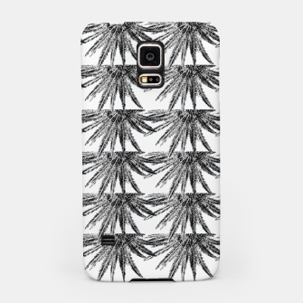Abstract Palm Leaves in black and white Handyhülle für Samsung thumbnail image