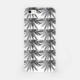 Abstract Palm Leaves in black and white iPhone-Hülle thumbnail image