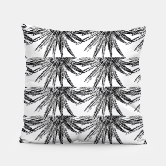 Abstract Palm Leaves in black and white Kissen thumbnail image