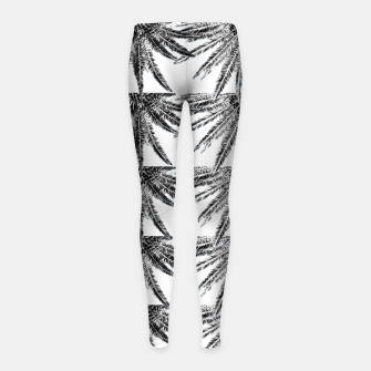 Abstract Palm Leaves in black and white Kinder-Leggins thumbnail image