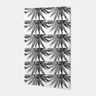 Abstract Palm Leaves in black and white Canvas thumbnail image