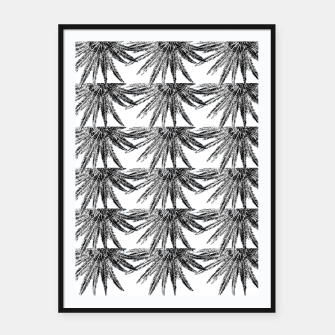 Abstract Palm Leaves in black and white Plakat mit rahmen thumbnail image