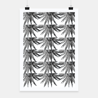 Abstract Palm Leaves in black and white Plakat thumbnail image