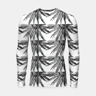 Abstract Palm Leaves in black and white Longsleeve rashguard thumbnail image