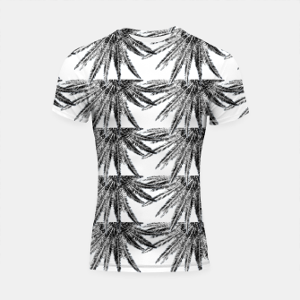 Abstract Palm Leaves in black and white Shortsleeve rashguard thumbnail image