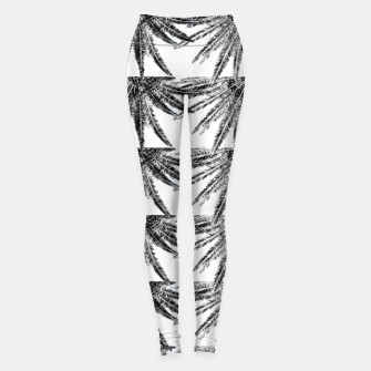Abstract Palm Leaves in black and white Leggings thumbnail image