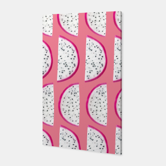 Thumbnail image of Dragon Fruit Summer Vibes Pattern #2 #fruity #decor #art  Canvas, Live Heroes