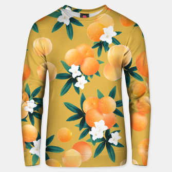 Miniaturka Orange Twist Flower Vibes #5 #tropical #fruit #decor #art Unisex sweatshirt, Live Heroes