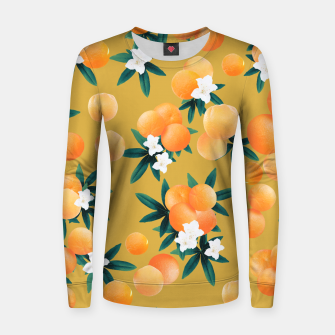 Miniaturka Orange Twist Flower Vibes #5 #tropical #fruit #decor #art Frauen sweatshirt, Live Heroes