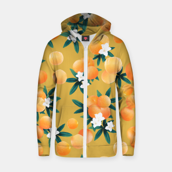 Miniaturka Orange Twist Flower Vibes #5 #tropical #fruit #decor #art Reißverschluss kapuzenpullover, Live Heroes