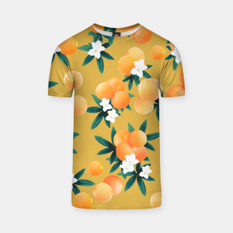 Miniaturka Orange Twist Flower Vibes #5 #tropical #fruit #decor #art T-Shirt, Live Heroes
