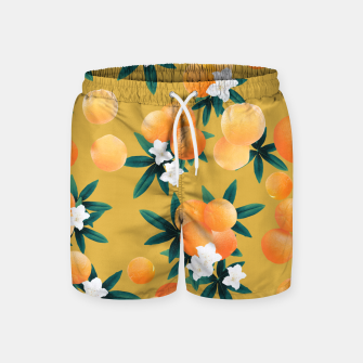 Miniaturka Orange Twist Flower Vibes #5 #tropical #fruit #decor #art Badeshorts, Live Heroes
